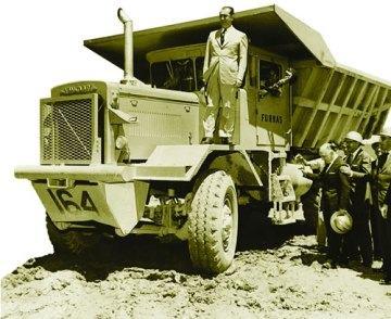 Juscelino Kubitschek na construção de Brasília