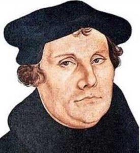 Retrato de Lutero.
