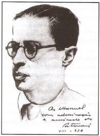 Retrato de Manuel Bandeira feito por Portinari