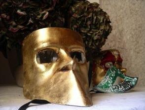 Máscara antiga de carnaval