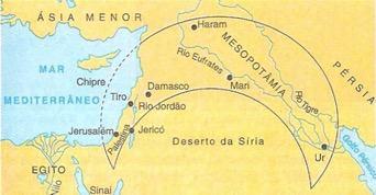Crescente fértil - rios Tigre, Eufrates e Jordão
