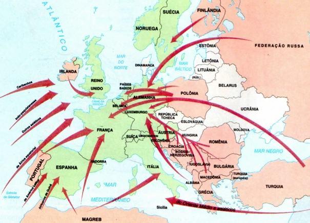 Migrações internacionais rumo à União Europeia