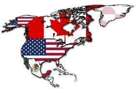 Países que compoem o NAFTA