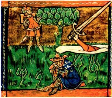 Ilustração sobre as novelas de cavalaria