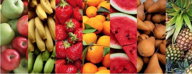 Várias frutas ricas em nutrientes