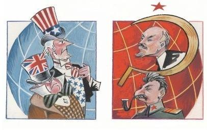 Divisão entre os blocos socialistas e comunistas no Pacto de Varsóvia e a OTAN