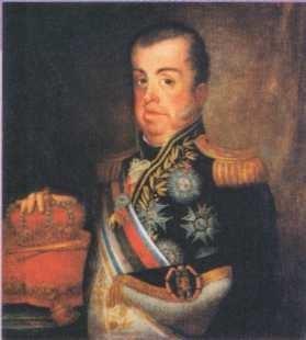 Retrato de dom João VI por Jean-Baptiste Debret (1768-1848)