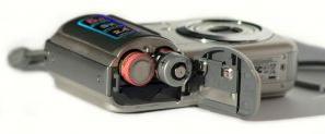 Bateria recarregável na câmera