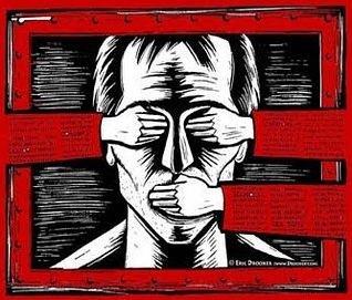 Ilustração de um regime totalitário