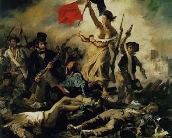 Quadro símbolo das revoluções liberais de 1830 e 1848