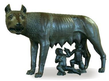 Rômulo e Remo e a loba