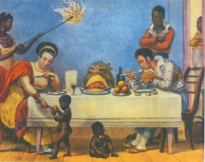 Obra de Debret que retrata a sociedade colonial brasileira
