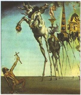 A Tentação de Santo Antão - pintura surrealista de Salvador Dalí