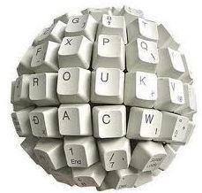 Globo em teclado - tecnologia da informação